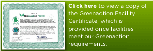 View the Greenaction Facility Certificate